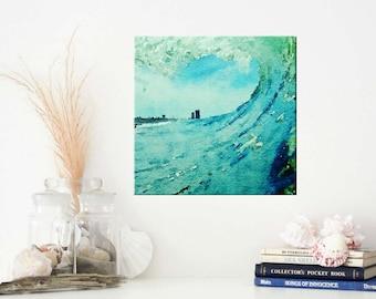 Surf Art - Canvas Wall Art - Ocean Wave Photography - Beach Wall Art - Beach Themed Decor - Wave Art - Surf Photography Canvas Art Print 8x8