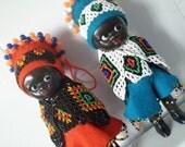 Vintage Set Of 2 Dolls African American Dolls
