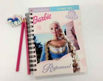 Barbie Rapunzel, Recycled Little Golden Book Journal