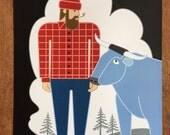 Paul Bunyan & Babe Blue Ox, poster