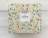 BABY BOOK | Cream Confetti Baby Book | Ruby Love Baby Memory Book