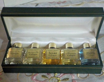 Vintage Cologne - Vintage Perfume - Caswell -Massey - NOS - Gift Set of 5 - Miniatures