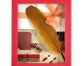 Calligraphy Kit - Feather Quill Pen with Wax Seal