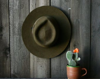 Vintage Forest Service Hat Army Green