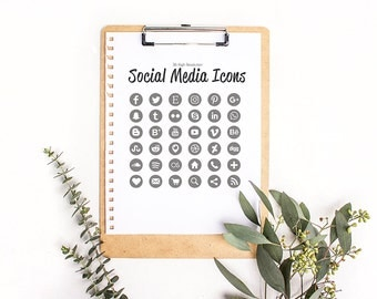 Glitter Silver Social Icons - High Resolution - web and print.