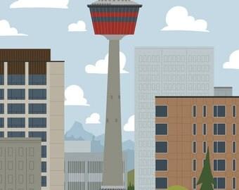 Calgary - Calgary Tower | A Unique Take on Alberta's City Calgary Landmarks and Surrounding Area