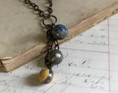 Custom Order for Sarah,  Clay Marble Necklace