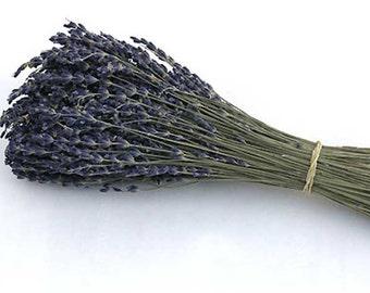200 Stems Dried Lavender /  French Lavender  /  Wedding Decor / Favor Supply /