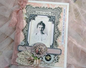 greeting card - pink - NO032