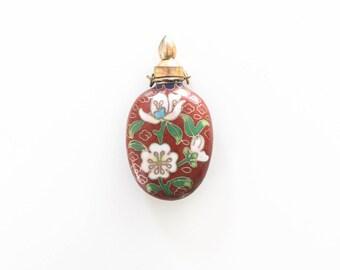 Victorian Enamel Perfume Bottle Pendant