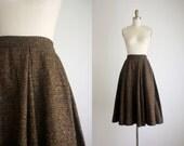 1950s woven wool skirt