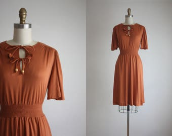 1970s soft clay dress