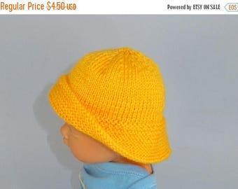 50% OFF SALE Digital file pdf download knitting pattern-Baby Souwester Rain Hat pdf knitting pattern