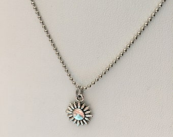 Dainty Sunflower necklace * sunflower charm necklace * charm necklace * friendship necklace * best friend necklace * sister necklace *