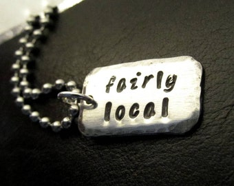 Fairly Local Lyric Necklace