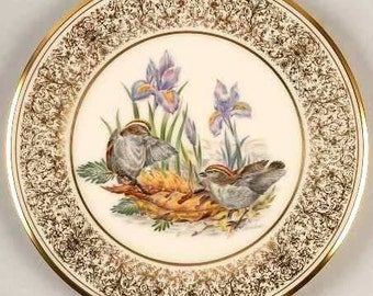 Vintage Boehm Bird Plate Golden Crowned Kinglets Plate with Box ~ 1979 ~ Susan G Komen Foundation