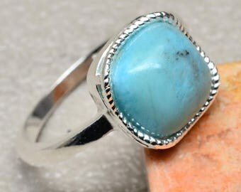 Vintage Sterling Silver Dominican Laramar Ring Size 9