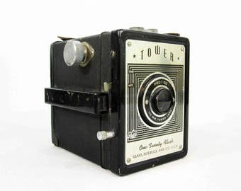 Vintage Tower One-Twenty Camera by Sears Roebuck & Co. Circa 1950's.