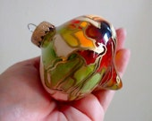 Painted Glass Ornament - Modern Holiday Decoration