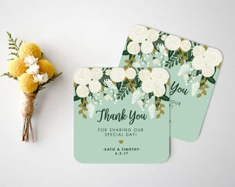 Wedding Coasters  Custom Wedding coasters  Wedding Thank You Card  Bar Coasters  Rustic Wedding Coasters  Custom Paper Coasters