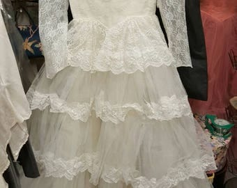 Vintage Wedding  Gown Lot Number Eight for Lace or Repurpose  from Rustysecrets