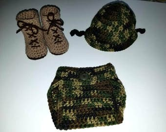 Army Inspired Photo Prop for Baby