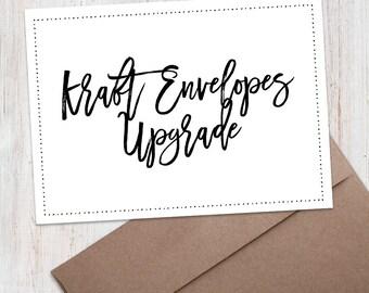 ADD-ON: Upgrade to Kraft Style Envelopes