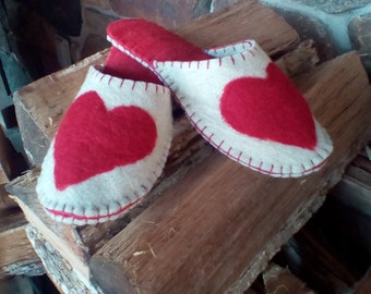 Hand made wool slippers