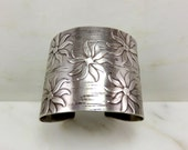 20% off Sale. Originally 425.00.   Circa 1950 Sterling Silver Cuff Bracelet by Francisco Rebajes