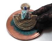 Sekhmet Egyptian Pendant Raku Pottery