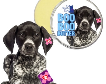 German Shorthaired Pointer Boo Boo Butter Handcrafted All Natural Herbal Balm for Your GSP's Itchy Skin Irritations & Discomforts 1 oz Tin