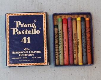 "Prang ""Pastello"" 41 American Crayons The Old Faithful Crayons"