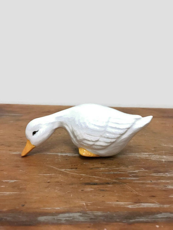 Vintage Goose Figurine - Ceramic - Easter Decor