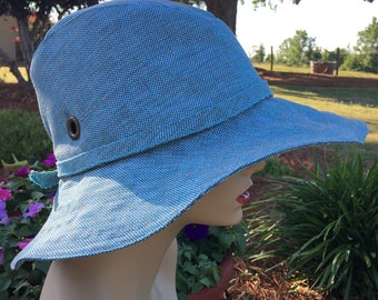 OutDoor Fabic Sunhat in Aqua