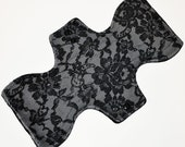 Heavy Core- Lace Minky Reusable Cloth Goddess Pad- WindPro Fleece 12.5 Inches (31.75 cm)