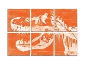 Large Custom Dinosaur Wall Art - Large Trex Print - Boys Room Art - Playroom Decor