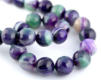 Free UK postage - pack of 10 AAA grade Natural Lace Agate Beads gemstone beads, gemstones