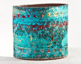 Tribal Festival Jewelry Hippie Gypsy Bracelet Turquoise Cuff Goa Psytance