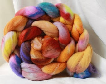 Hand painted/dyed fine merino (4.1 oz- 115 grams) #157