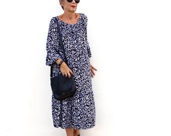 BATIK, Size 6-24, Gypsy Dress, Choice of Hand Printed Fabrics,  Rayon