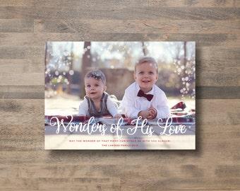 Christmas Photo Card - Wonders of His Love
