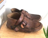 Quoddy Leather Moccasins // Womens Size 8/9