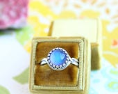 Silver Mood Ring | Vintage Inspired Color Changing Mood Stone| Mood Jewelry As Seen on Kacey Musgraves