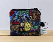 Beauty and the Beast Mini Wallet with ID Holder