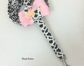 Precious Mooments Dog Leash With Bow 5' by Doogie Couture Pet Boutique
