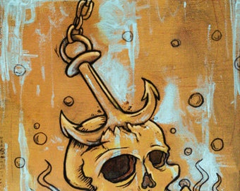 Death at Sea - original acrylic painting