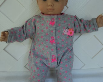 Bitty Baby Girl Cute Lady Bug   Footed  Pajamas, doll clothes