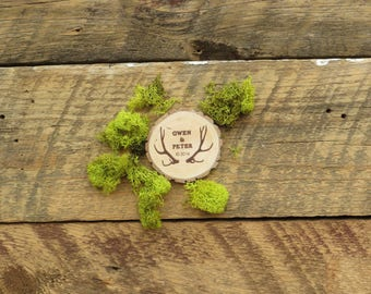 25 Simply Rustic Antler Wedding Favor  Magnets