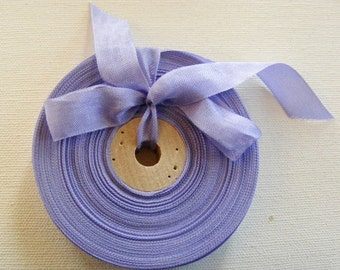 Vintage French 1930's-40's Woven Ribbon -Milliners Stock- 5/8 inch Pastel Periwinkel