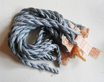 Antique 1920's HEMINWAY Silk Twist Embroidery Floss Silvery Blue